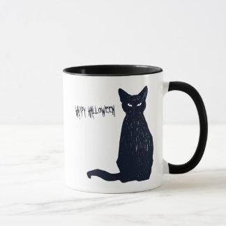 Schwarze Katzen-Silhouette Halloweens Tasse