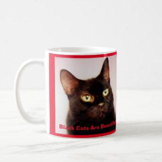 Schwarze Katzen sind schöne Kaffee-Tasse (Version Kaffeetasse