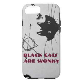 Schwarze Katzen sind Wonky Phonecase iPhone 8/7 Hülle