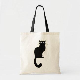 Schwarze Katzen-Taschen-Taschen-fette Katzen-Leben Budget Stoffbeutel