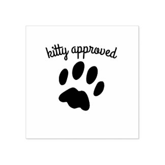 Schwarze Katzen-Tatzen-Druckkitty-anerkannte Gummistempel