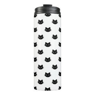 Schwarze Katzen-Thermaltrommel Thermosbecher