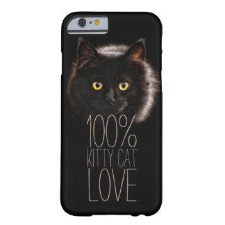 Schwarze Katzen-Typografie-Katzen-Liebhaber Barely There iPhone 6 Hülle