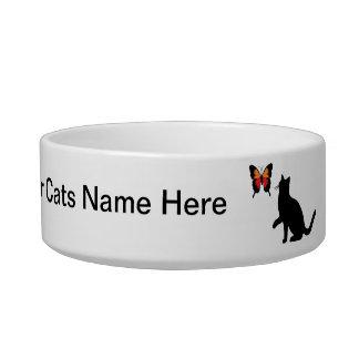 Schwarze Katzen-und Schmetterlings-Teller Napf