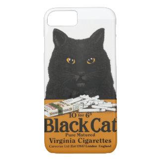 Schwarze Katzen-Virginia-Zigaretten-Anzeige iPhone iPhone 8/7 Hülle