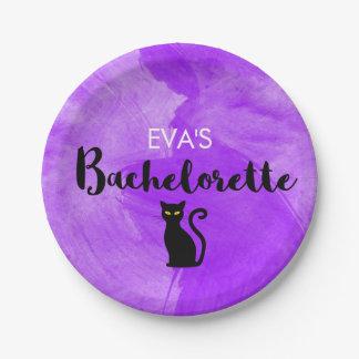 Schwarze Katzen Witchy Halloween Pappteller