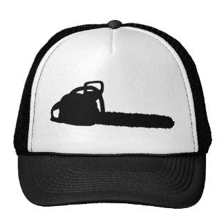 schwarze Kettensäge Baseball Caps