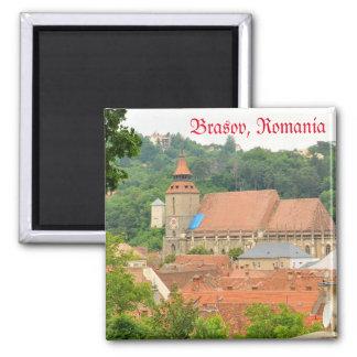 Schwarze Kirche in Brasov, Rumänien Quadratischer Magnet