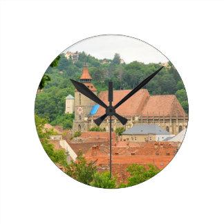 Schwarze Kirche in Brasov, Rumänien Runde Wanduhr