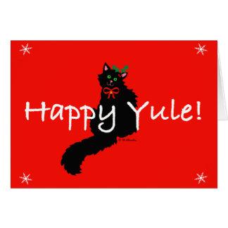 Schwarze Kitty-Weihnachten-Karte