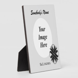 Schwarze Klee-Band-Schablone Fotoplatte