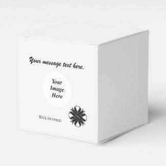 Schwarze Klee-Band-Schablone Geschenkschachtel