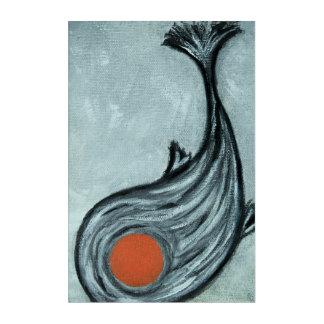 schwarze koi Fische Acryldruck