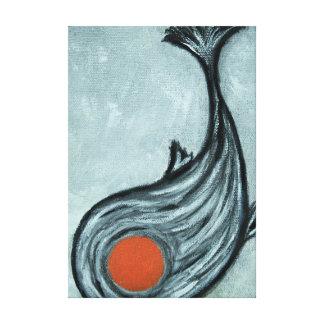 schwarze koi Fische Leinwanddruck