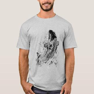 Schwarze Koi Fische T-Shirt