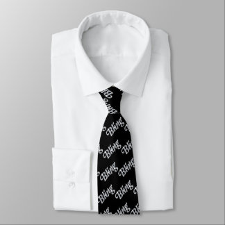 Schwarze Krawatte, die unseren bling Entwurf des Krawatte