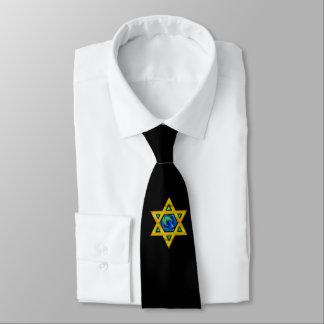 Schwarze Krawatte mit Davidsstern Oder IHR BILD