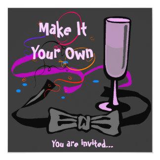 Schwarze Krawatten-Party Einladung