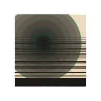 schwarze Kreise Holzleinwand