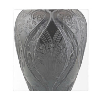 Schwarze Kunst-Deko-Glaseidechsen-Vase Notizblock