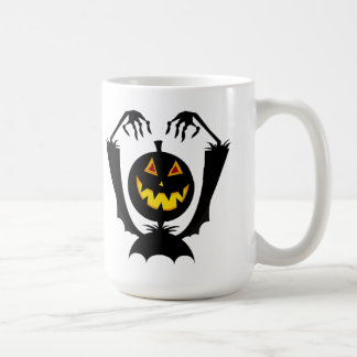 Schwarze Kürbis-Halloween-Tasse Kaffeetasse