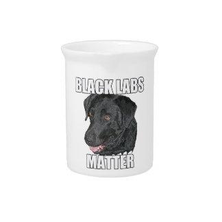 Schwarze Labrador-Angelegenheit zwei Getränke Pitcher
