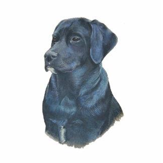 schwarze Labrador-Hundeporträt-Vorlagenkunst Fotoskulptur Magnet