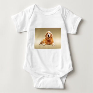 Schwarze Labrador-Hundewasser-Farbkunst-Malerei Baby Strampler