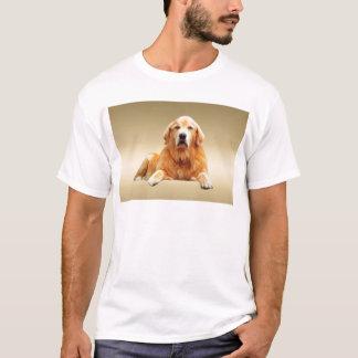 Schwarze Labrador-Hundewasser-Farbkunst-Malerei T-Shirt