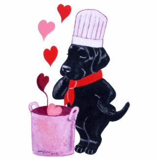 Schwarze Labrador-Kochs-Malerei Fotoskulptur Magnet