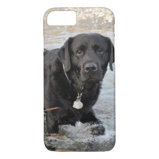 Schwarze Labrador-Liebe iPhone 8/7 Hülle