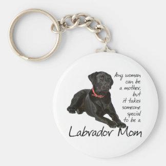 Schwarze Labrador-Mamma Schlüsselanhänger