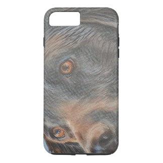 Schwarze Labrador-Nahaufnahme iPhone 7 Plus Hülle