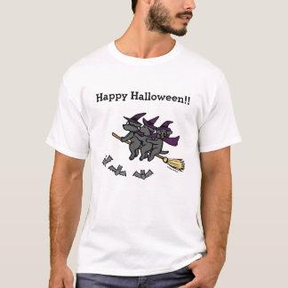 Schwarze Labrador Reiter Halloweens! T-Shirt