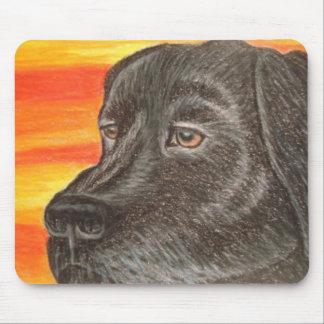 Schwarze Labrador retriever-Mausunterlage Mousepad