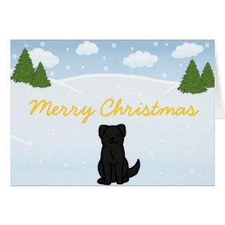 Schwarze Labrador-Weihnachtskarte Karte