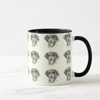 Schwarze Labradore können lächeln! Tasse