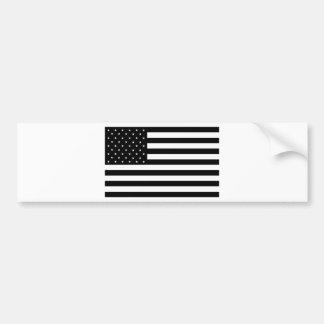 Schwarze Land-Flagge des USA-(USA) Autoaufkleber
