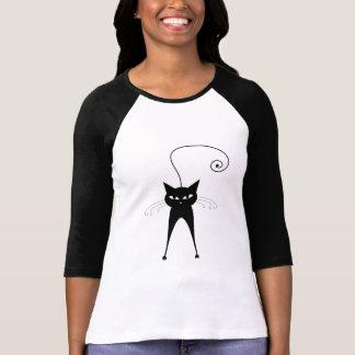 Schwarze launische Miezekatze 6 T-Shirt