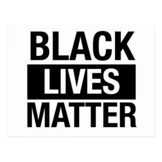 Schwarze Leben-Angelegenheit Postkarte