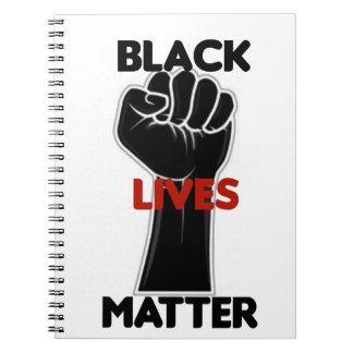 Schwarze Leben-Angelegenheits-Gleichheits-Rechte Notizblock