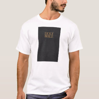 Schwarze lederne heilige Bibel-Abdeckung T-Shirt