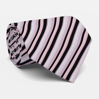 Schwarze lila Streifen Individuelle Krawatte