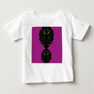 Schwarze lila Vintage Verzierungen Baby T-shirt