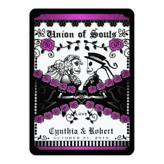 Schwarze lila weiße Gewerkschaft der Wedding Soule Karte