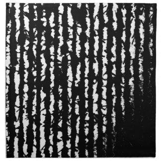 schwarze Linien Stoffserviette