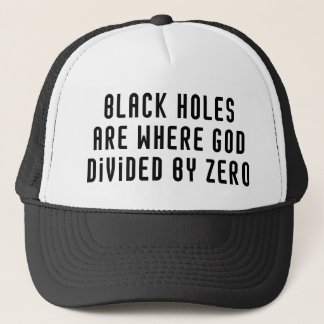 Schwarze Löcher null Truckerkappe