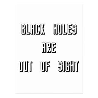 Schwarze Löcher sind aus den Augen Postkarte