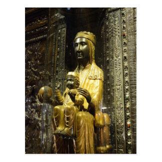 schwarze madonna Montserrat-Postkarte Postkarte