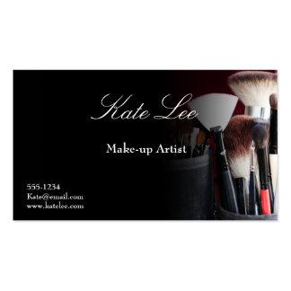 Schwarze Make-upbürste Cosmetology-Visitenkarten
